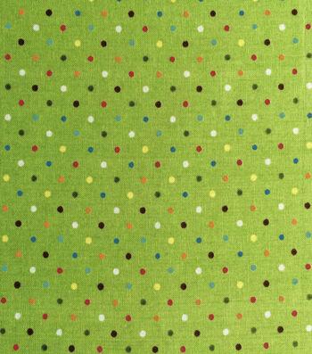 "Keepsake Calico™ Cotton Fabric 43""-Raindow Dots"