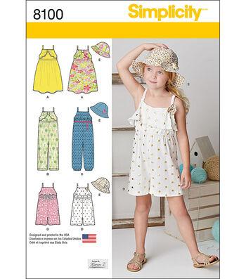 Simplicity Patterns US8100A Children-3-4-5-6-7-8