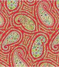 Waverly Upholstery Fabric 54\u0022-Paisley Proposal/Poppy