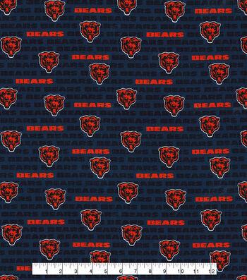 "Chicago Bears Cotton Fabric 58""-Mini Print"