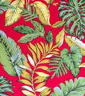 Cotton Shirting Tropical Fabric 57\u0022-Red Tropical Paradise