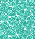 Quilter\u0027s Showcase™ Fabric 44\u0027\u0027-Pool Green Mum Floral
