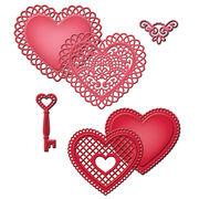 Spellbinders Shapeabilities Dies Lace Hearts, , hi-res