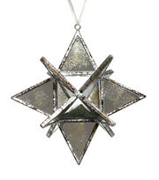 Maker's Holiday Christmas Holiday Charm Geometric Mirror Star Ornament, , hi-res