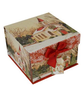 Maker's Holiday Medium Mini Fliptop Box-Snow Church