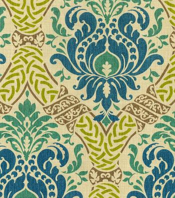 """Waverly Print Fabric 54""""-Dressed Up Damask/Blue Jay"""