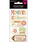 Essentials Dimensional Stickers 2.25\u0022X5\u0022 Sheet-Memories