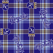 "Kansas City Royals Fleece Fabric 58""-Plaid, , hi-res"