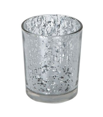 David Tutera™ 12 Pack 2.63'' Silver Spot Plating Glass Votives