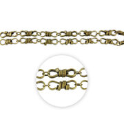 """Blue Moon Beads Strand 14""""Metal Chain, Rope Twist Link, Ox Brass, , hi-res"""