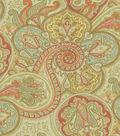 Waverly Sun N\u0027 Shade Outdoor Fabric 54\u0022-Paddock Shawl Persimmon