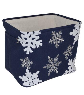 Maker's Holiday Medium Soft Bin-Snowflakes