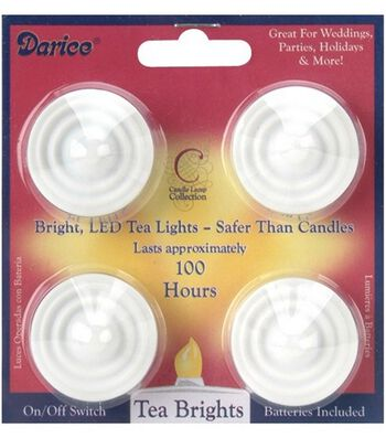 Darice® 4pk Battery Operated LED Tea Lights