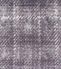 Anti-Pill Fleece Fabric 59\u0022-Distressed Gray Plaid