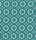Quilter\u0027s Showcase™ Cotton Fabric 44\u0022-Deep Lake Kaleidescope On White