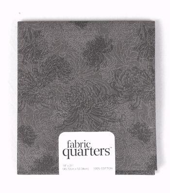Fabric-Quarters Cotton Fabric-Assorted Black