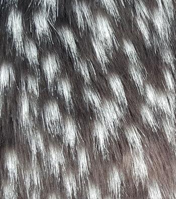 "Fashion Faux Fur Fabric 57""-Black White Emu"