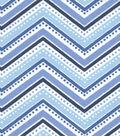 Snuggle Flannel Fabric 42\u0022-Twilight Dotted Chevron