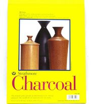 """Charcoal Paper Pads 9""""X12"""" White, , hi-res"""