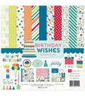 Echo Park Paper Company Birthday Wishes Boy Collection Kit 12\u0027\u0027x12\u0027\u0027
