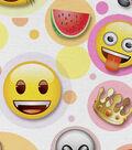 Emoji Cotton Fabric 44\u0027\u0027-Bubbles