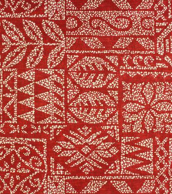 Solarium Outdoor Print Fabric 54''-Cherry Danul