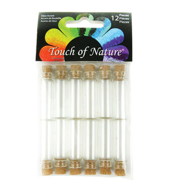 Midwest Design Imports™ Touch Of Nature 1.5'' Mini Glass Vials with Cork