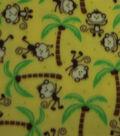 Anti-Pill Fleece Fabric 59\u0022-Happy Monkeys