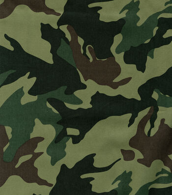 "Camouflage Fabric 56""-Leaf Moss Green"