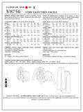 Mccall Pattern V8756 B5 (8-10-1-Vogue Pattern