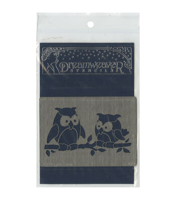 Stampendous Dreamweaver Metal Owl Pair Stencil