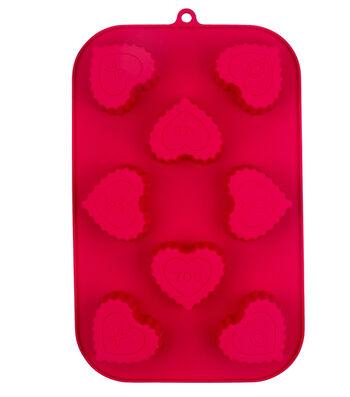 Valentine's Day 8-Cavity Silicone Mini Treat Mold-Scallop Hearts