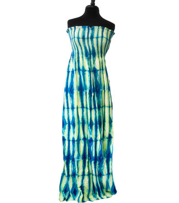 "Style In An Instant Rayon Challis Smocked Fabric 53""-Tie Dye"