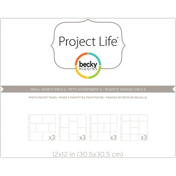 Project Life Page Protectors 12/Pkg-Small Variety Pack 6