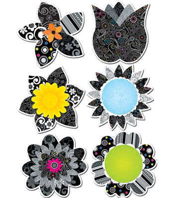 "BW Flowers 6"" Designer Cut-Outs"