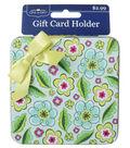Green Multi Flower Gift Card Holder