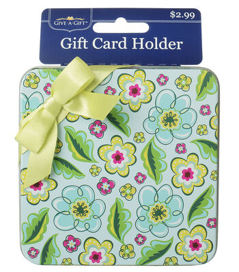 Green Multi Flower Gift Card Holder