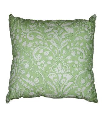 Wild Blooms 17''x17'' Solarium Pillow-Topaz Green Fern
