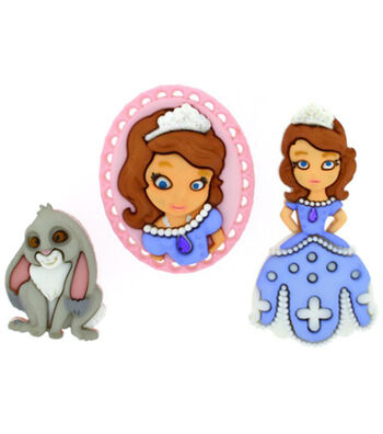 Disney Dress It Up Button Embellishments-Sofia The First