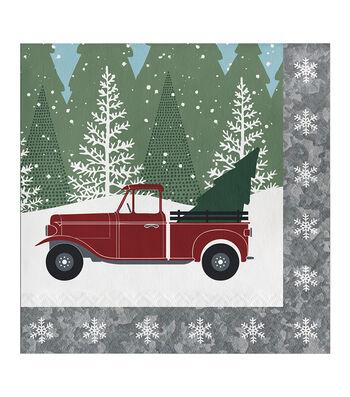 Maker's Holiday Christmas 20 pk Beverage Napkins-Winter Drive