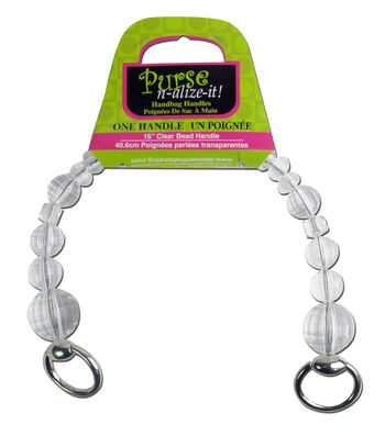 Blumenthal Purse-N-Alize Clear Bead Handle