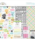 Doodlebug Essentials Page Kit 12\u0022X12\u0022-Kitten Smitten