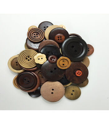 Organic Elements Wood Mixed Value Buttons