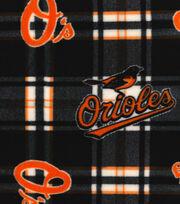 "Baltimore Orioles Fleece Fabric 58""-Plaid, , hi-res"