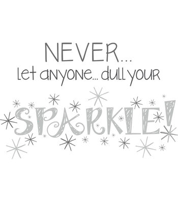 """Wall Pops Sparkle Wall Quote Decals, 23"""" x 15"""""""