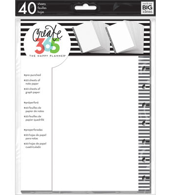 Create 365 Happy Planner Graph Fill Paper with Black Stripes