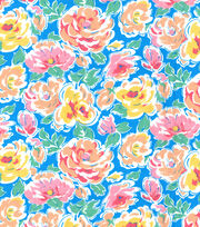 Made In America Cotton Fabric 44''-Spring Floral Main, , hi-res