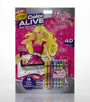 Crayola Color Alive Action Coloring Pages-Barbie, , hi-res