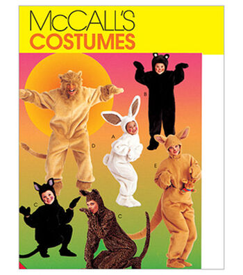 McCall's Pattern M6106-Adults'/Kids' Animal Costumes