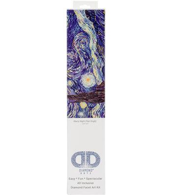 """Diamond Embroidery Facet Art Kit 23""""X19""""-Starry Night (Van Gogh)"""